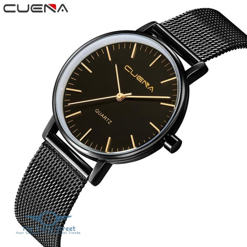 Image of CUENA 6645G Women Casual Quartz Watch Stainless Steel Band Wristwatch