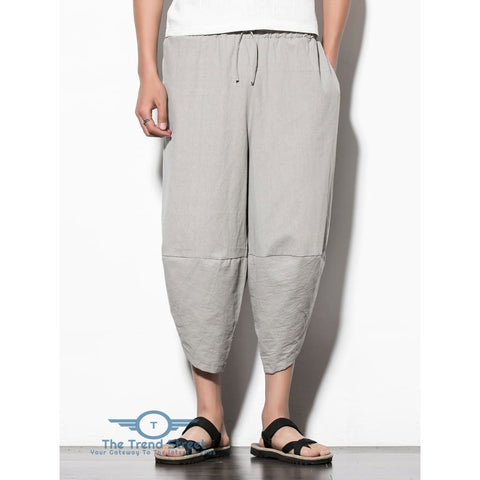 Image of Curve Hem Nine Minutes of Jogger Pants with Pockets GRAY CLOUD / L