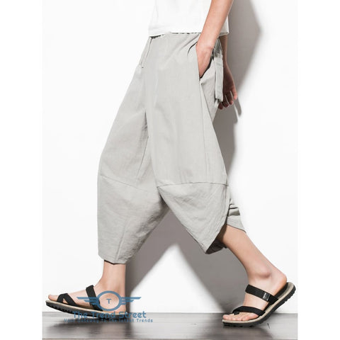 Image of Curve Hem Nine Minutes of Jogger Pants with Pockets