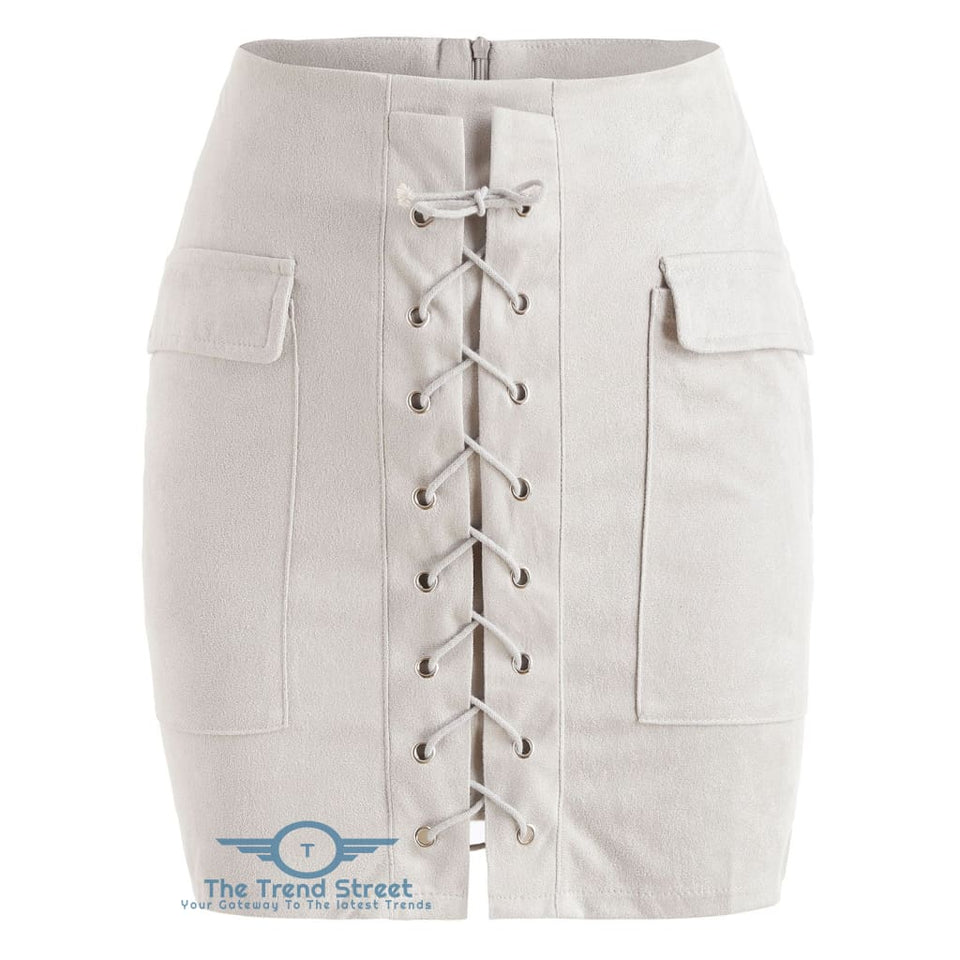 9b9a3528a2 Faux Suede Slim Fitted Skirt – The Trend Street