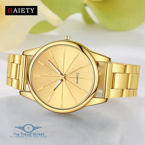 GAIETY G107 Fashion Gold Silver Rose Gold Classic Stainless Steel Watch Women