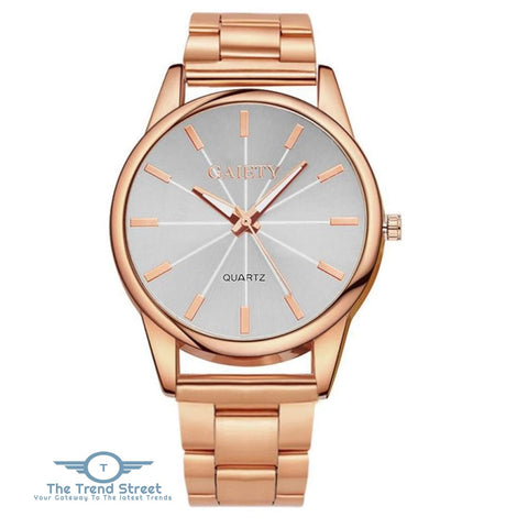 Image of GAIETY G107 Fashion Gold Silver Rose Gold Classic Stainless Steel Watch Women ROSE GOLD