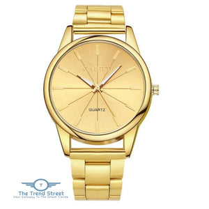GAIETY G107 Fashion Gold Silver Rose Gold Classic Stainless Steel Watch Women GOLD