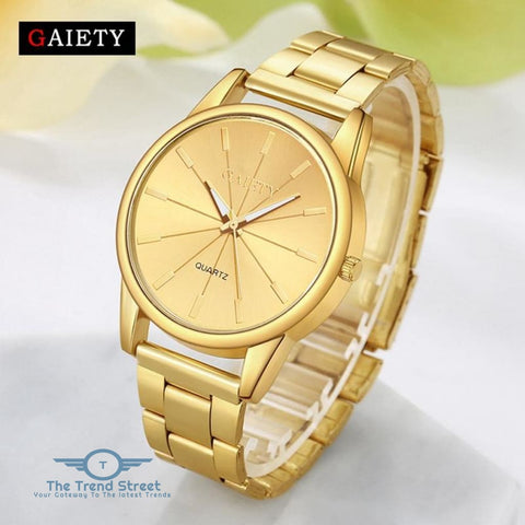 Image of GAIETY G107 Fashion Gold Silver Rose Gold Classic Stainless Steel Watch Women