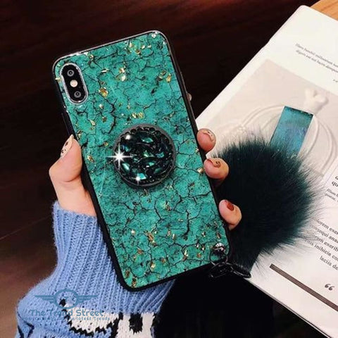 Image of Glitter Crystal Case For Samsung & iPhone green / For Samsung S8 Phone Case