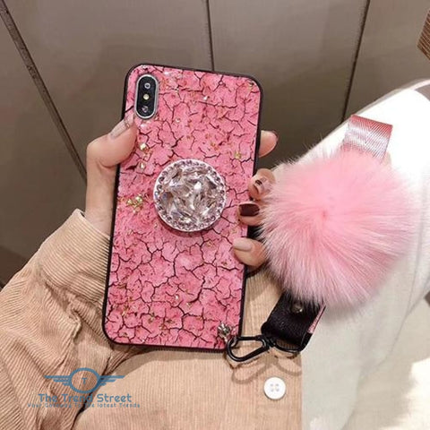 Glitter Crystal Case For Samsung & iPhone Pink / For iPhone 6 6S Phone Case