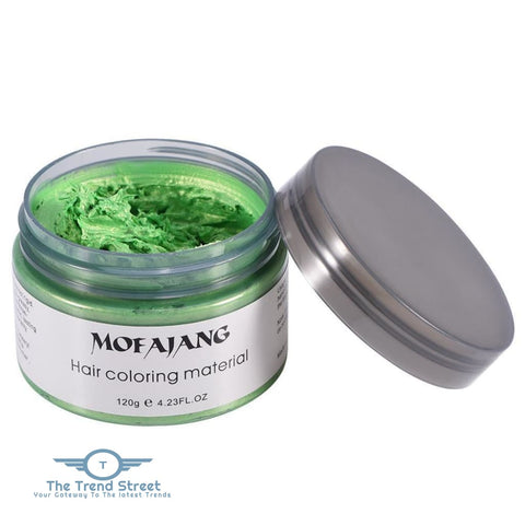 Hair Coloring Silver Temporary Easy Wash Wax Green hair wax