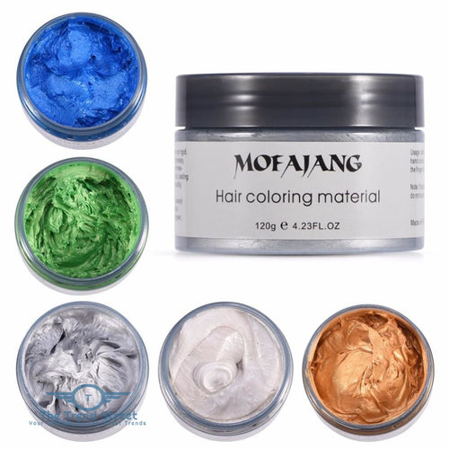 Hair Coloring Silver Temporary Easy Wash Wax hair wax
