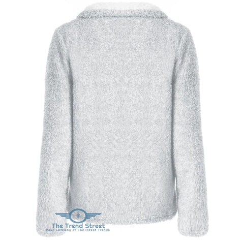 Image of Half Zip Fuzzy Sweatshirt
