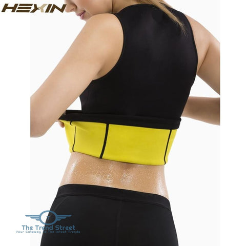 HEXIN Plus Size Neoprene Sweat Sauna Hot Body Shapers Vest Waist Trainer Slimming Vest Shapewear Weight Loss Waist Shaper Corset 31205