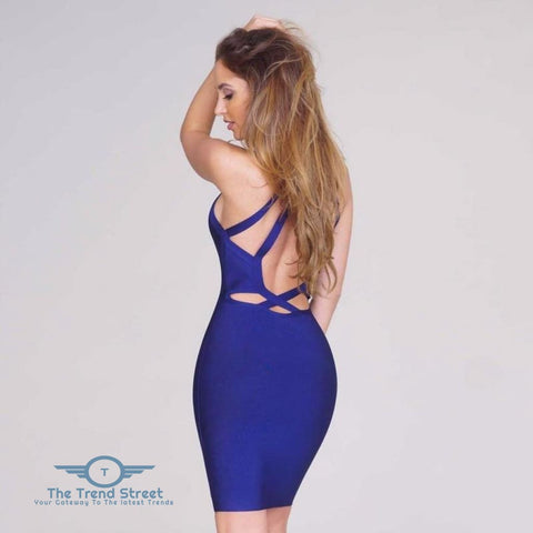 Image of Hollow Out Backless Halter Sleeveless Dress dress