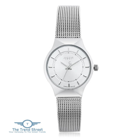 Image of Julius JA - 577 Women Ultrathin Quartz Wrist Watch Stainless Steel Mesh Band