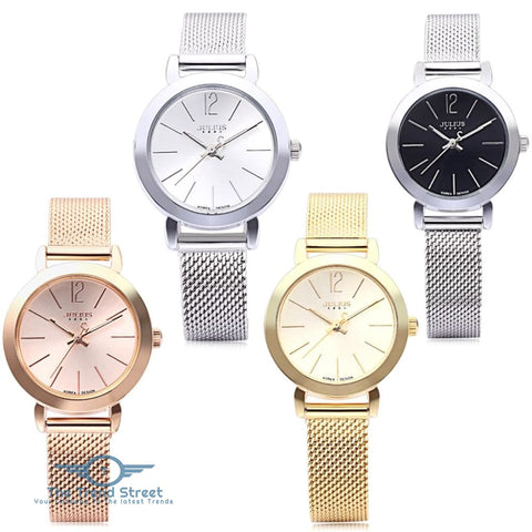 Image of Julius JA - 732 Women Quartz Watch Stainless Steel Net Band Luminous Pointer Female Wristwatch