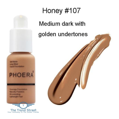 PHOERA Full Coverage Liquid Foundation One Hundred seven / Buy 1 GET 50% Off