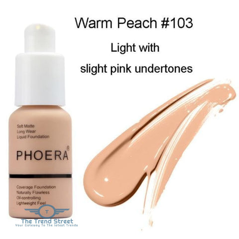 PHOERA Full Coverage Liquid Foundation One Hundred three / Buy 1 GET 50% Off