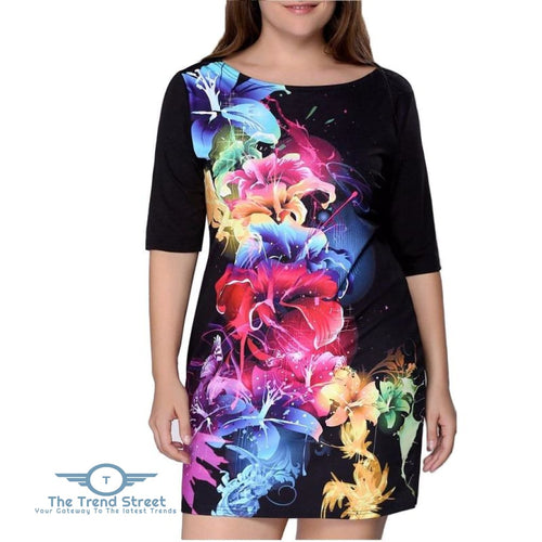 Plus Size Women Clothing 2018 Summer Dress Big Size Dress