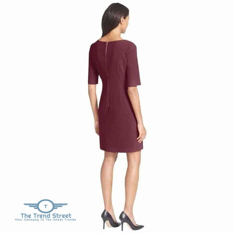 Image of Short Sleeve Shift Dress Dress