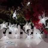 Solar Powered Frosted Star String Fairy Lights Home Decoration