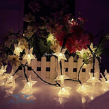 Solar Powered Frosted Star String Fairy Lights warm white / 5M 20LED Home Decoration