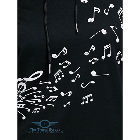 Image of Two Tone Music Note Hoodie
