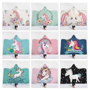 Unicorn Hooded Blanket Hooded Blanket