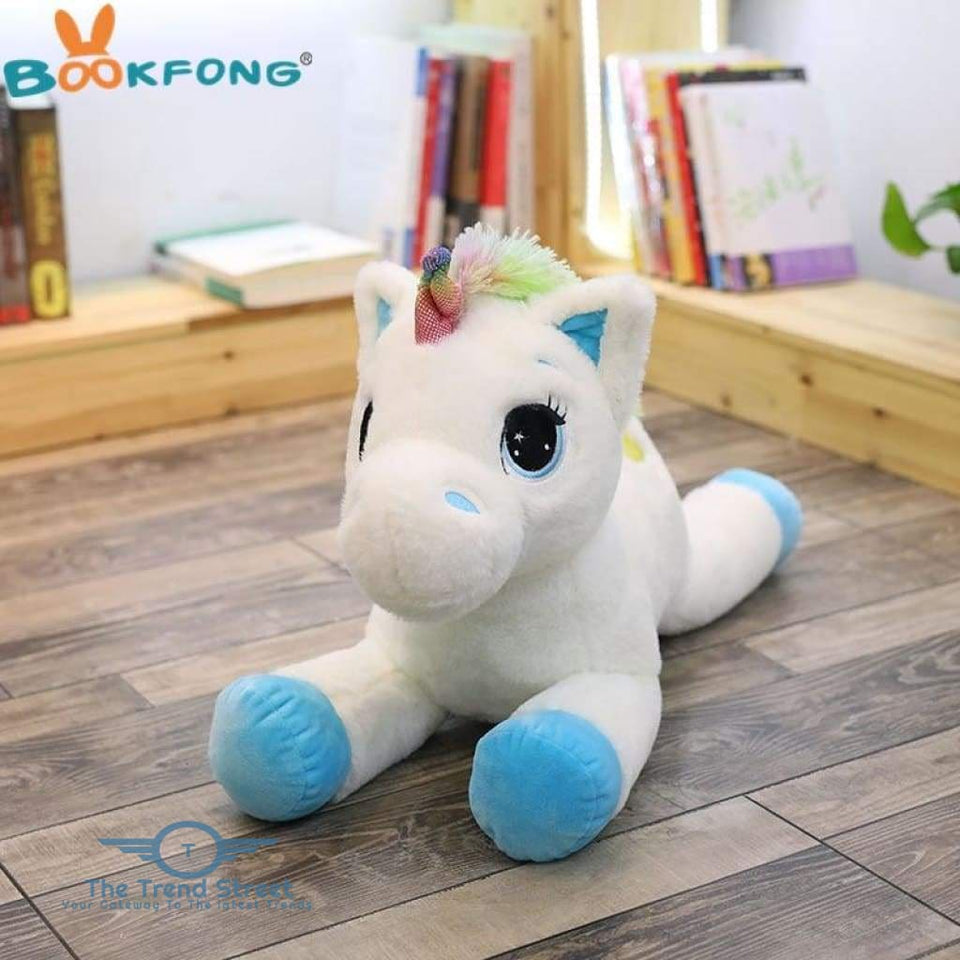 Unicorn Plush Toy 40cm / Blue-white / Buy 1 Get 50% OFF Plush Toy