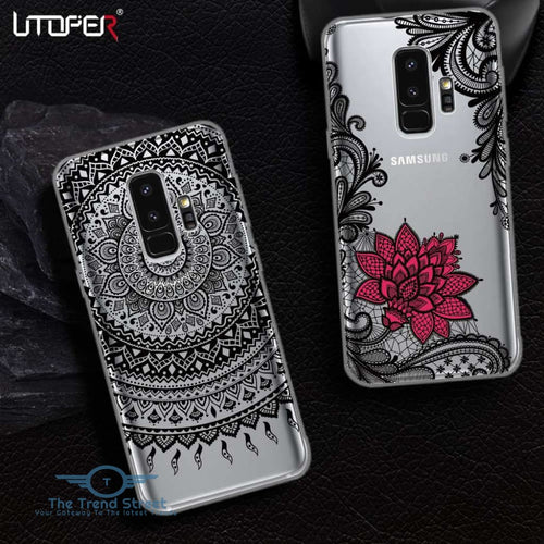 UTOPER Mandala Flower Case For Samsung Galaxy S9 Case Silicone Cover For Samsung A8 2018 Coque For Galaxy S7 S6 Edge S8 S9 Plus