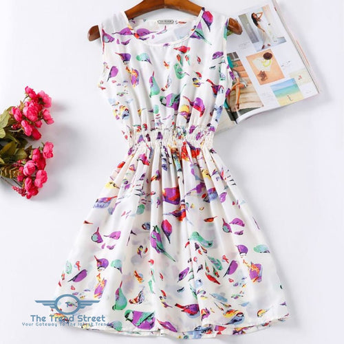 Women Summer Dress Vestidos Print Casual Dress