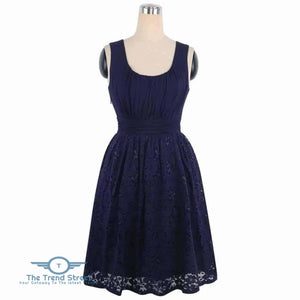 Womens Plus Size Wedding Party Cotton Lace Short Dress Dress