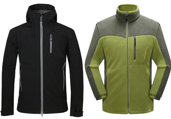Softshell jacket and a fleece top
