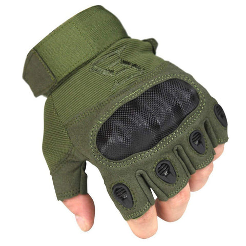 FREE SOLDIER Tactical Armor Fingerless Gloves - Camotrek
