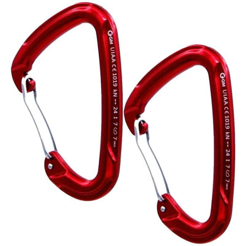GM 24kN D Wire-Gate Carabiner 2 pcs - Camotrek
