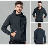Mountainskin Zip Fleece Hoodie - Men's - Camotrek