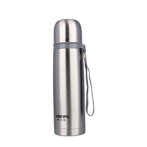 Haers Vacuum Water Bottle 500ml Silver - Camotrek