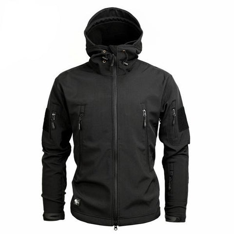Shark Skin Softshell Jacket II Black - Men's - Camotrek