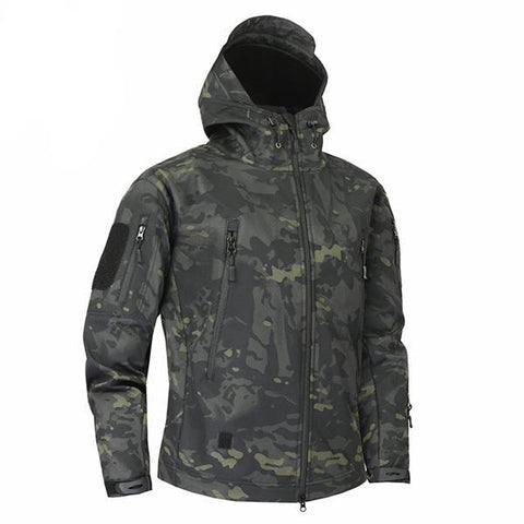 Shark Skin Softshell Jacket II Camo Black - Men's - Camotrek