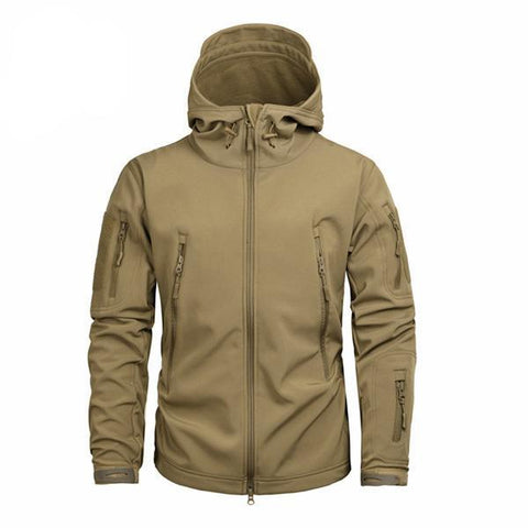 Shark Skin Softshell Jacket II Brown - Men's - Camotrek