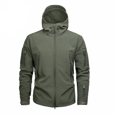 Shark Skin Softshell Jacket II OD Green - Men's - Camotrek