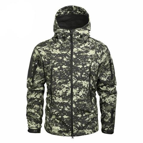Shark Skin Softshell Jacket II Camo ACU - Men's - Camotrek