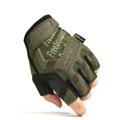 FREE SOLDIER Tactical Fingerless Gloves - Camotrek