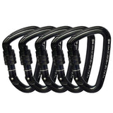 GM 24kN D Screw-Gate Carabiner 5 pcs - Camotrek