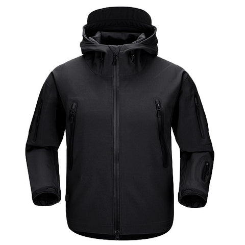 Shark Skin NG Softshell Jacket Black - Men's - Camotrek