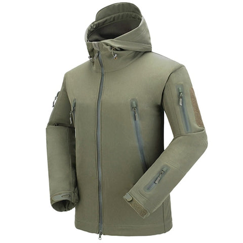 Shark Skin NG Softshell Jacket Army Green - Men's - Camotrek