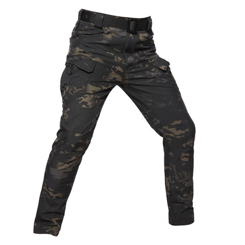 Softshell Tactical Pants Camo Black - Men's - Camotrek