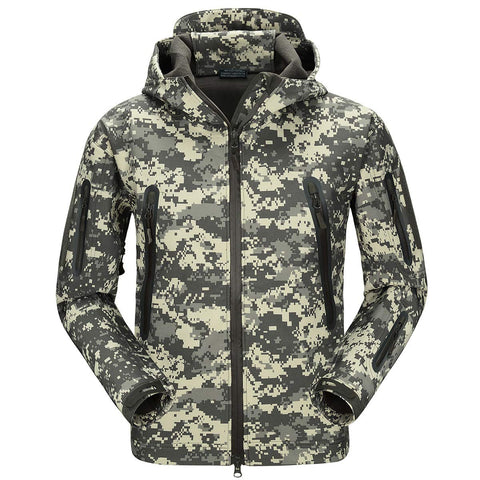 Shark Skin NG Softshell Jacket Camo ACU - Men's - Camotrek
