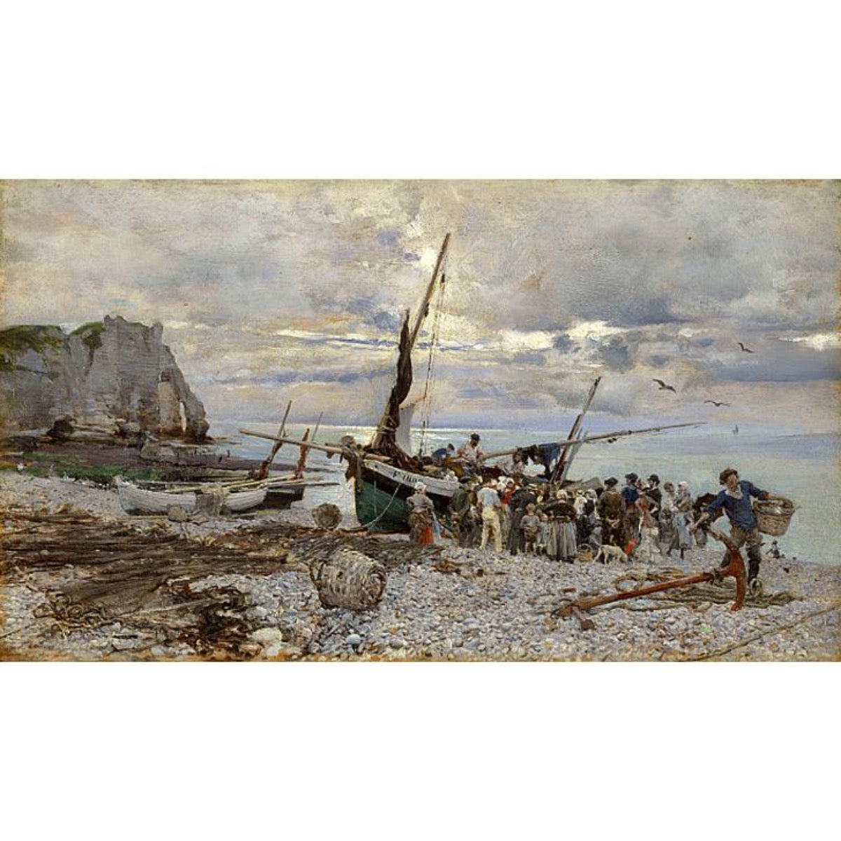 Return of The Fishing Boats, Étretat, 1879