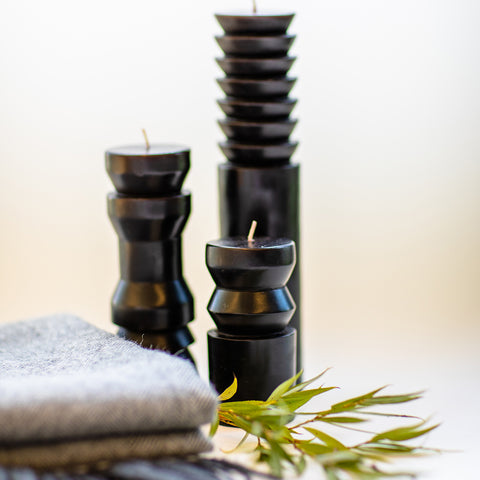 Totem Candles in Black