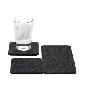 Felt Coasters in Charcoal Grey
