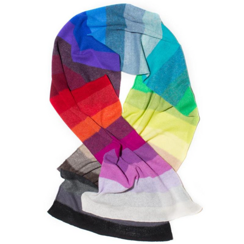 Rainbow Scarf in Cashmere