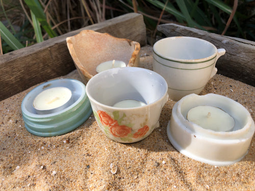 Sea Pottery Tea Light Holders
